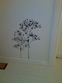 szablon na ścianie