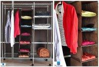 garderoba z ubraniami
